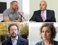 Álvaro Penas, Peter Tase, Cvetin Chilimanov, Mariann Őry Bild: Twitter, Facebook, YouTube, persönliches Archiv / UM / Eigenes Werk