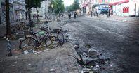 Hamburg nach dem G20 Treffen und dem Einfall der Antifa