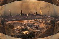 """Eine Szene totaler Umweltverschmutzung und Zerstörung. Sie stammt nicht aus dem Film """"Der Herr der Ringe"""", sondern aus China."""
