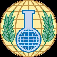 Logo  Organisation für das Verbot chemischer Waffen (englisch Organisation for the Prohibition of Chemical Weapons, OPCW)