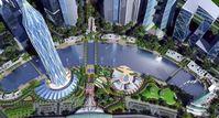 """GIFT-City ist die erste Stadt, die aus dem Boden gestampft wird. Auf einer Fläche von 360 Hektar sollen 25.000 neue Wohnungen gebaut werden. Bild: """"obs/3sat/Patrick Hafner"""""""