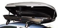 """Sieger Dachboxentest 2013: Die Thule-Dachbox Motion 800 überzeugte in Handhabung und Fahrsicherheit und erhielt deshalb ein """"sehr gut"""".  Bild: ADAC"""