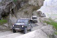 Fahrt durch die Berge Bild: PIZ Kunduz/HFW Willkomm