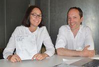 FH-Absolventin Jennifer Fiebig und Prof. (i.Vetr.) Sven Pfeiffer, Spezialist für Wind in der Archite Quelle: Foto: FH Münster/Pressestelle (idw)