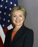 Die Außenministerin der Vereinigten Staaten Hillary Clinton