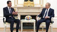 Der russische Präsident Wladimir Putin bei einem Treffen mit seinem syrischen Amtskollegen Baschar al-Assad in Moskau am 13. September 2021