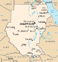 Karte des Sudan