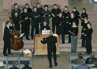 """Junges Ensemble der Mannheimer Liedertafel e.V. beim Konzert """"Lobt Gott mit Schall"""" im Januar 2006"""