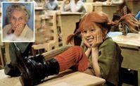 Screenshot aus einer Pippi Langstrumpfverfilmug (kleines Bild: die verstorbene Autorin Astrid Lindgren)
