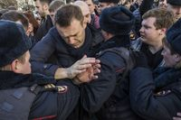 Nawalny bei einer Verhaftung im März 2017