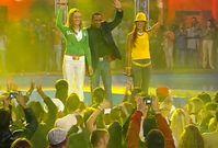 Mr. President (2004) Die letzte Besetzung von Mr. President (von links nach rechts: Franzi, Lazy Dee und Lady Danii) bei einem Auftritt zu Coco Jamboo bei Die Hit-Giganten