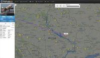 Bild: Screenshot: flightradar24.com