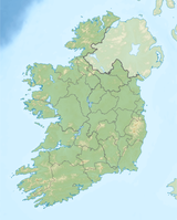 Ireland relief location map