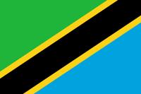 Flagge der  Vereinigten Republik Tansania