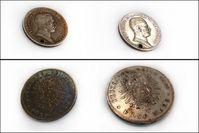 Münzen vor und nach der Plasmabehandlung am Fraunhofer FEPQuelle: © Fraunhofer FEP (idw)