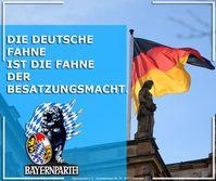 Die deutsche Fahne ist die Fahne der Besatzungsmacht.