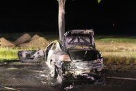 Foto von der Unfallstelle Bild: Polizei