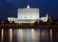 Das Weiße Haus in Moskau, heute das Hauptgebäude der Russischen Regierung