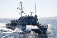 Die M1069 HOMBURG ist eines der Minenjagdboote, die mit dem neuen IMCMS ausgestattet werden.  Bild: Bundeswehr / Friedrich Weishaupt Fotograf: Friedrich Weishaupt