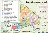 """Bei """"politaia.org"""" spekuliert man inweiweit die Karte den wahren Kriegsgrund in Mali zeigt. Bild: politaia.org"""