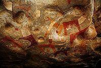 Teil der Höhlenmalereien in Laas Geel Bild: Abdullah Geelah / de.wikipedia.org
