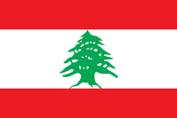 Flagge der libanesischen Republik