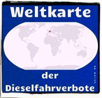 Weltkarte der Dieselfahrverbote ab Euro3: Deutschland. (Symbolbild)
