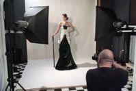 Screen aus Porträtfotografie im Studio