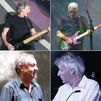 Oben: Roger Waters (l.) und David Gilmour (r.) Unten: Nick Mason (l.) und Richard Wright (r.)