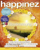"""Cover der aktuellen """"happinez"""" Ausgabe (EVT: 31. Juli 2014)"""