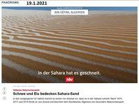 Am 19.01.2021 hat es in der Sahara geschneit - Globale Abkühlung in 2021 (Symbolbild)