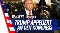 """Bild: SS Video: """"Trump News Deutsch, Trump appelliert an den Kongress für das amerikanische Volk"""" (https://youtu.be/I_rz9q3SAmE) / Eigenes Werk"""