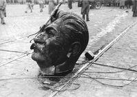 Überreste von Stalins Statue auf der Großen Ringstraße in Budapest (Symbolbild)