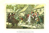 """""""Die sächsische Bauernrevolution 1790"""" (Lithographische Anstalt von Wilhelm Gottlieb Baisch, 1853)[1]:S. 77/78 (Symbolbild)"""