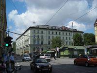 Der Hofbräukeller an der Inneren Wiener Straße und am Wiener Markt