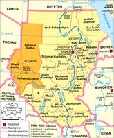 Politische Karte des Sudan (Region Darfur). Bild: Domenico-de-ga aus de.wikipedia.org