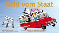 """Geld nur für Frauenverbände - IG-JMV - 23.08.2019. Bild: """"obs/Interessengemeinschaft Jungen, Männer und Väter (IG JMV)/IG-JMV"""""""