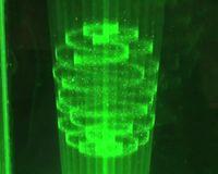 Aerial 3D: Schwebende Lichtpunkte erzeugen 3D-Bilder. Bild: DigInfoTV