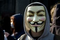 Anonymous-Aktivist mit Guy-Fawkes-Maske Bild: Al from Edinburgh, Scotland / de.wikipedia.org