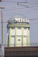 Der Wasserturm auf dem Gütersloher Miele Werksgelände