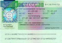 Deutsches Schengen Visum in einer älteren Version