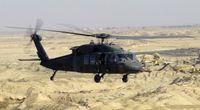 """Ein UH-60L """"Black Hawk"""" der US Army im Irak"""