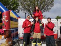 Die Freiwillige Feuerwehr Werne stellte die schnellste Frau des Tages bei der Höinger Firefighter Challenge