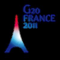Logo des G20-Gipfeltreffens in Cannes 2011