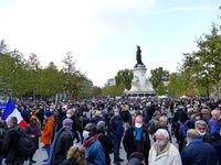 Gedenkveranstaltung am 18. Oktober 2020 auf der Place de la République in Paris