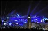 """MSC Kreuzfahrten ist der zweithäufigste Gast der Saison 2013. Die """"MSC Magnifica"""", die 2010 in der Hansestadt getauft wurde, wird insgesamt 18-mal an/ab Hamburg fahren.  Bild: """"obs/Hamburg Cruise Center e.V."""""""