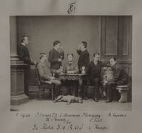 Gruppenfoto von Füchsen der Leonensia einer Kneipe (1883), Symbolbild