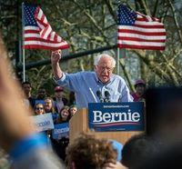 Sanders: Schrift zeigt Ideologie.