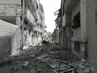 Syrien: Zerstörter Straßenzug in Homs