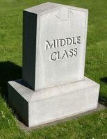 Grabstein: Geldsorgen plagen US-Mittelklasse. Bild: DonkeyHotey, flickr.com